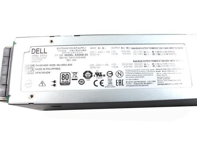 Dell PowerEdge M1000e 3000W 80+ Titanium PSU Power Supply E3000E-S0 8V4DK  08V4DK - Newegg com