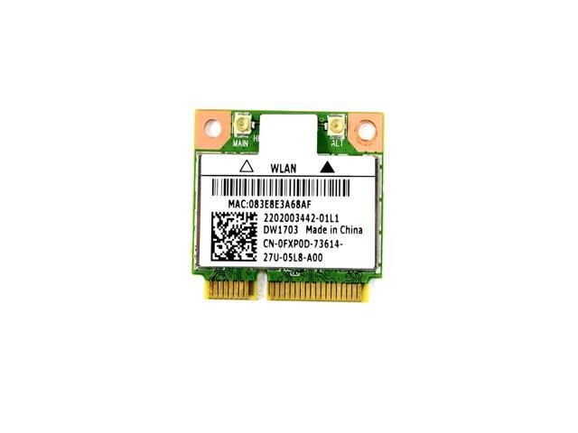 NEW Dell Wireless DW1703 WLAN WiFi 802 11 b/g/n + Bluetooth Half-Height  Mini-PCI Express Card - FXP0D 0FXP0D - Newegg com