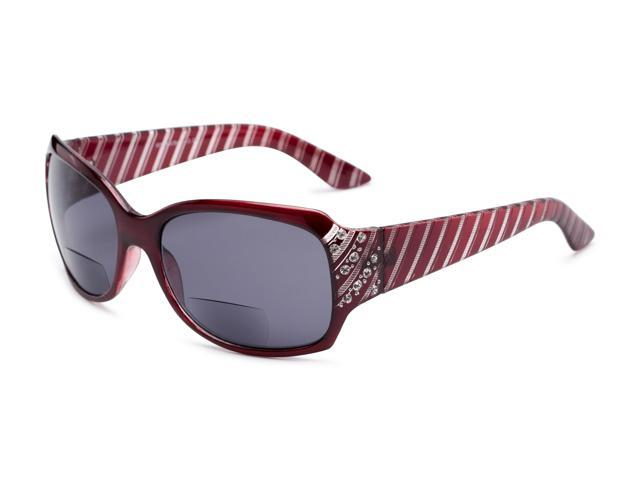 1c5206082f95 Readers.com | The Bernice Bifocal Reading Sunglasses +1.25 Red with Smoke  Square Women's