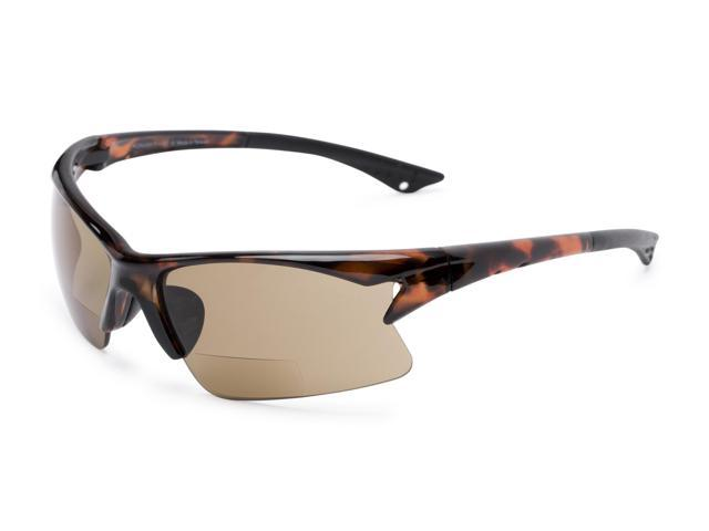 38c8905b9402 Readers.com | The Phoenix Bifocal Reading Sunglasses +2.00 Tortoise with  Amber Sport & Wrap-Around Men's & Women's Semi-Rimless Reading Sunglasses
