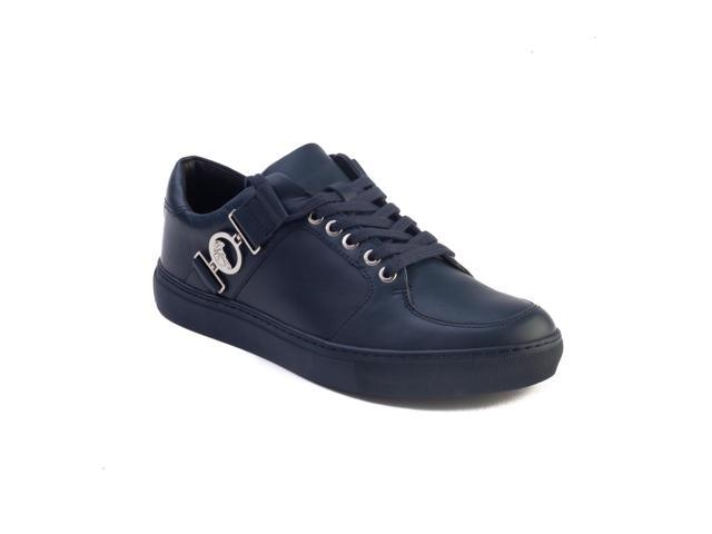 6eaab95e Versace Collection Men's Leather Medusa Logo Low Top Sneaker Shoes Navy  Blue - Newegg.com