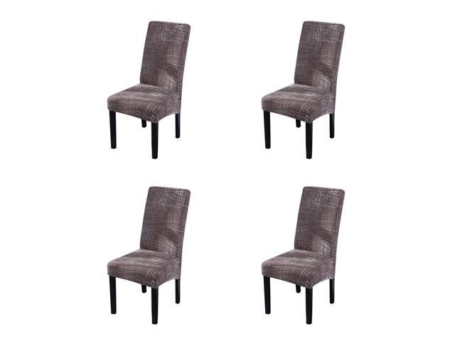 4PCS Stretch Dining Room Chair Slipcover Printed Pattern Dining Chair  Protector Cover for Home Hotel Banquet Ceremony