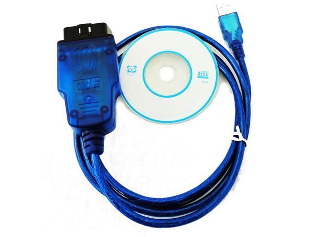 VAG 409 1 VW/AUDI OBD2 VAG Kkl USB OBD-II-2 KKL 409 1 OBD2 VAG-COM  diagnostic scanner cable VW/AUDI/SEAT/SKODA - Newegg com
