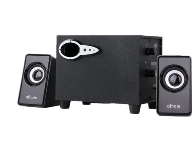 OFNOTE YD-211 2 1 PC Computer Subwoofer Speaker RMS System Subwoofer with 2  Speakers for Computer, MP3 Players, Wood Structured - Newegg com