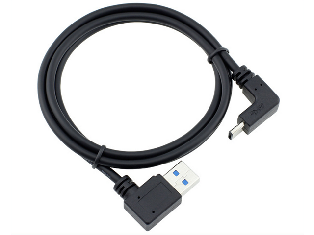 Right Angle 90 Degree USB C Type-C to USB 2.0 A Male Data Sync Charger Cable MA