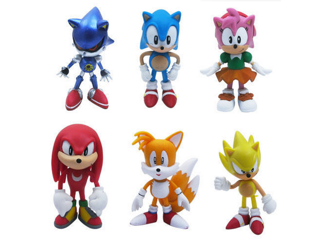 6pcs Set Sonic The Hedgehog Amy Tails Mephiles The Dark Knuckles 6cm 2 4 Pvc Figure Sonic The Hedgehog Action Figure Toy Newegg Ca