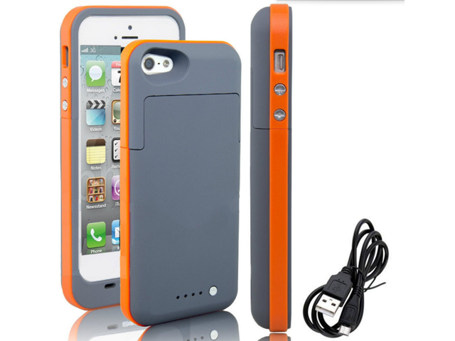 For Iphone 5s 5 Battery Case Rechargeable Portable 2500mah Backup
