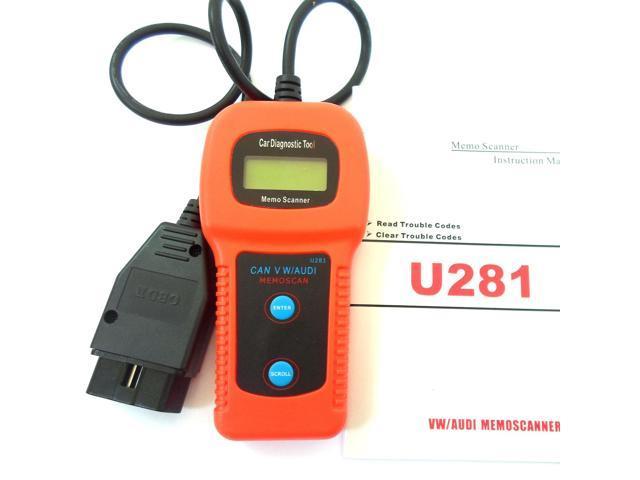 OBD II 2 CAN U281 Car Trouble Code Reader Scanner Memo Diagnostic Tool  Scanner for VW AUDI - Newegg ca