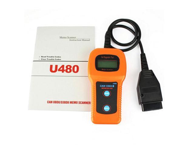 Details about U480 OBD2 OBDII LCD Car AUTO Truck Diagnostic Scanner Fault  Code Reader Scan U480 1 5