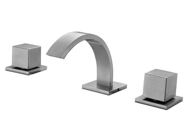 Superb Alfi Brand Ab1326 Bn Brushed Nickel Modern Widespread Bathroom Faucet Newegg Com Interior Design Ideas Gresisoteloinfo