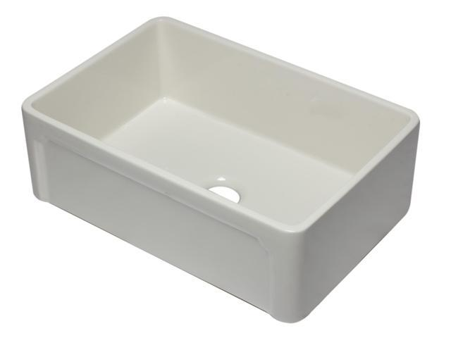 ALFI brand AB3020SB-B 30 inch Biscuit Reversible Single Fireclay Farmhouse  Kitchen Sink, Biscuit