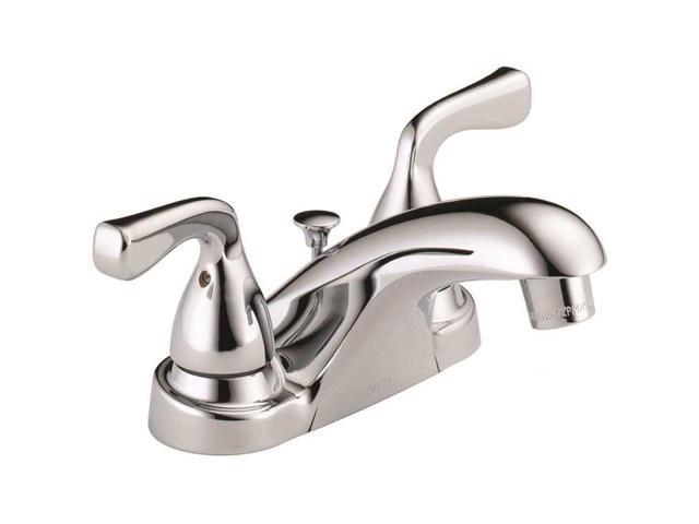 Delta Porter 4 In Centerset 2 Handle Bathroom Faucet With: Delta Foundations 4 In. Centerset 2-Handle Bathroom Faucet