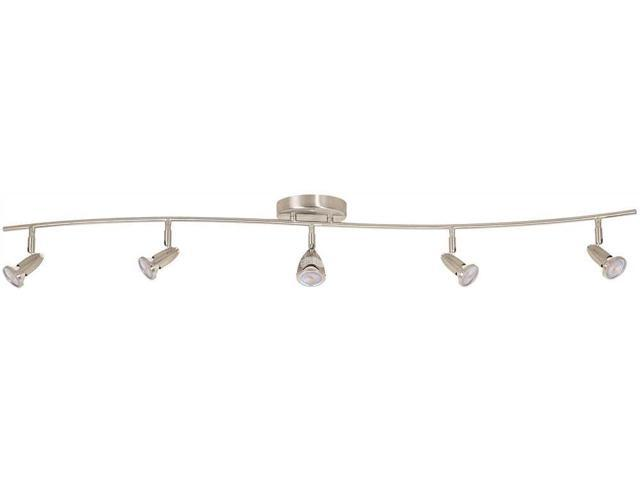 Monument 52 In 5 Light Brushed Nickel Track Lighting Kit Newegg