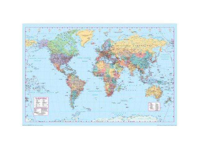 World Map Contemporary View 24x36 Poster - Newegg.com