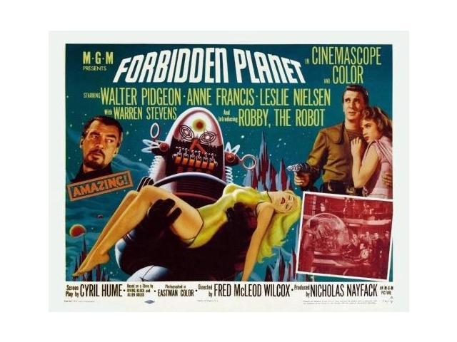 the forbidden planet movie poster