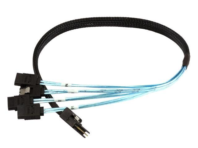 CableDeconn 0.75M Internal SFF8087 Mini SAS 36pin Male W//Latch to SATA 7Pin Female 8087 to 4sata 0.75m X4 Forward Breakout Cable