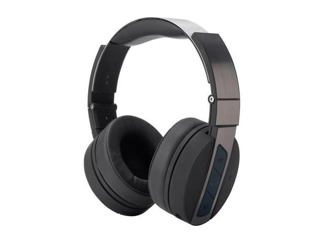 cc84842c15e Monoprice Bluetooth Wireless Over Ear Headphones - Black and Brushed Metal  With Built-In Microphone