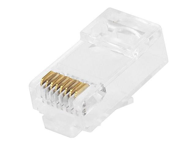 80pcs RJ12 6P6C Modular Network Crimping Ethernet Cord Wire Adapter Connector