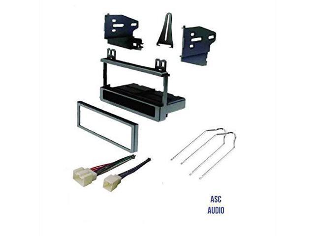 ASC Audio Car Stereo Dash Kit and Wire Harness for installing an Aftermarket Single Din Radio for 2001 2002 2003 2004 2005 Honda Civic excludes SI and SE models Other