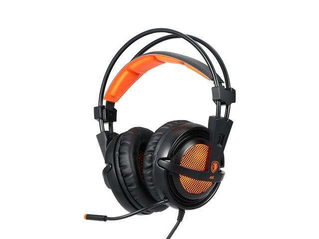 A6 7 1 Surround Sound Usb Gaming Headphones Professional Over Ear Game Headset Noise Isolating With Mic For Computer Game Newegg Com