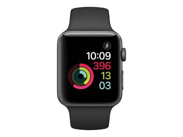 Cuidado cómo utilizar más  Used - Acceptable: Apple Watch Series 2 Nike+ 42mm Space Gray Aluminum Case  Black/Volt Nike Sport Band MP0A2LL/A - Newegg.com