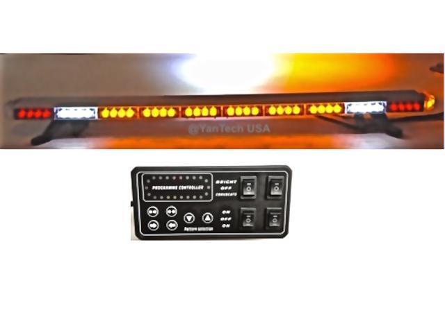 49 Amber Light Bar Flashing 86 Leds