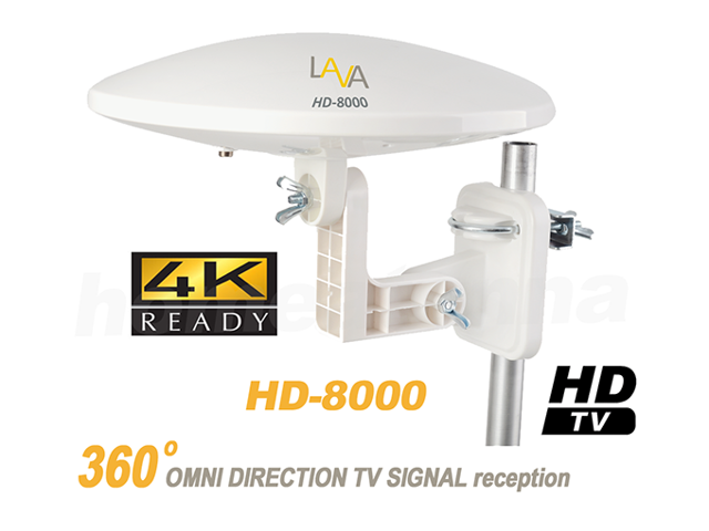 Lava HD-8000 OmniPro Omni-Directional HDTV Antenna The Best Antenna with  360 Degree Multi Directional Features  Can use Both Outdoor and Indoor -