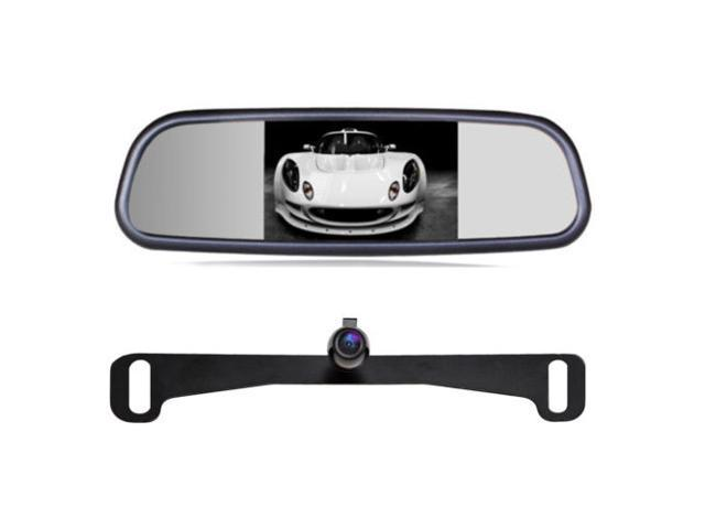 factory look touch screen button 4.3-inch lcd rear view mirror