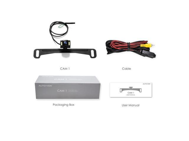 AUTO-VOX Cam1 HD Car Rear View Backup Camera of License Plate for Truck /& RV with the Features of IP68 Waterproof High Brightness Light Sensor Night Vision LEDs