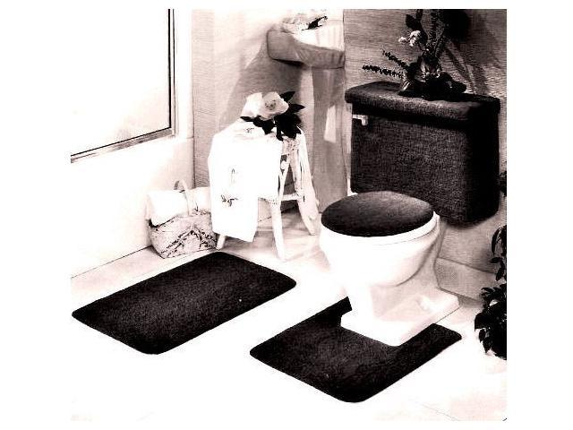 Fine 5 Piece Bath Rug Contour Lid Tank Lid Tank Cover Set Black Newegg Com Forskolin Free Trial Chair Design Images Forskolin Free Trialorg