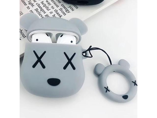 For Airpods 1 Earphone Case Cute Cartoon Ring Strap Cover For