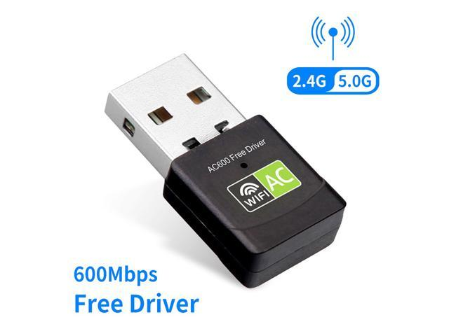 600Mbps Dual Band 2.4G//5G Wireless Lan Card USB PC WiFi Adapter 802.11AC Dongles