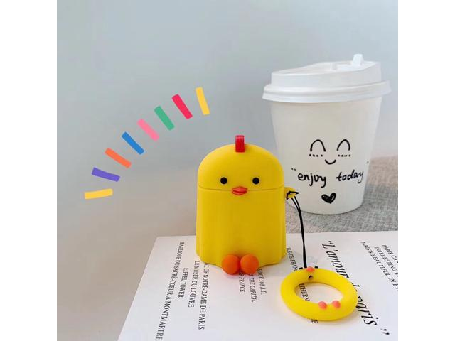 For Airpods 1 2 Case Cute Cartoon Chick Earphone Case For Apple