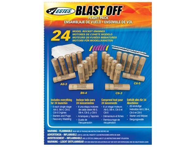 Estes Blast-Off Flight Pack Model Rocket Engines / Motors
