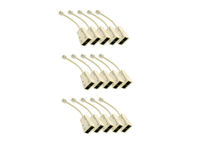 Pack of 10 Includes 2 Mounting Screws iMBAPrice Single 2.5GHz F-Pin Grounding Block
