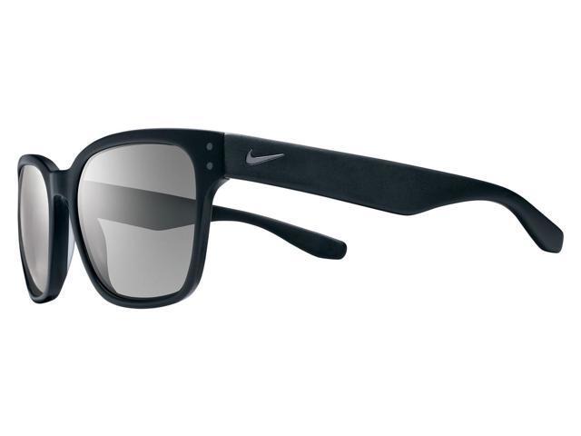 4cb9b665f4a9 Nike Volano Sunglasses Matte Black Gunmetal Frame Grey Silver Flash Mirror  Lens
