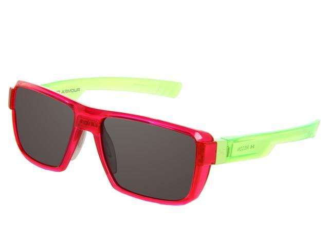 f50e4bc5528 Under Armour UA Recon Rectangle Sunglasses Crystal Magenta   Neon Lime  Green Frame   Gray Multiflection