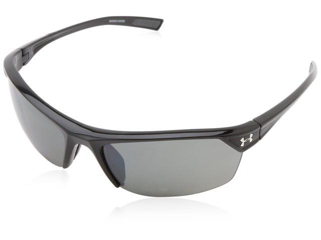 cc3859f22465 Under Armour UA Zone 2.0 Sunglasses Shiny Black Frame Gray Polarized Multi  Lens