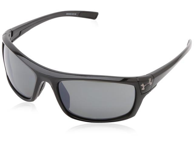 98fc60ad97 Under Armour UA Keepz Shiny Black Frame Grey Polarized Lenses Sport  Sunglasses