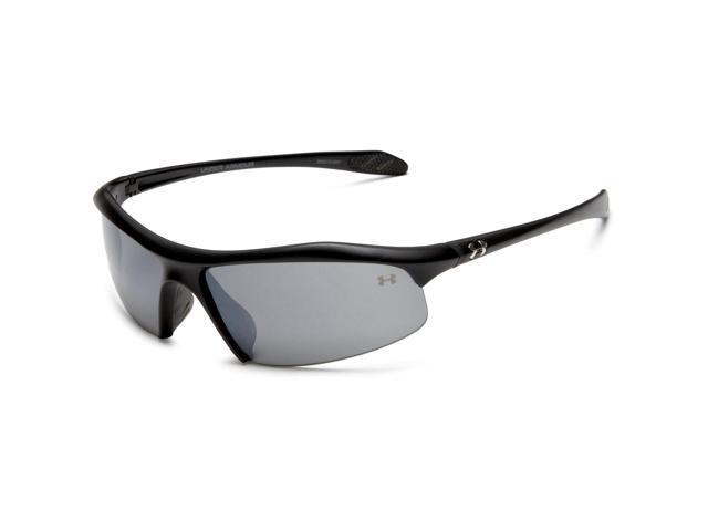 1af9c0a5d6 Under Armour UA Zone Sport Sunglasses Satin Black Frame Gray Grey Lenses