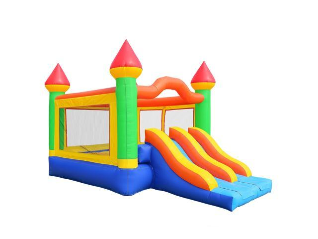 Cloud 9 Commercial Bounce House Mega Double Slide Climbing Wall 100 Pvc Inflatable Only Newegg Com