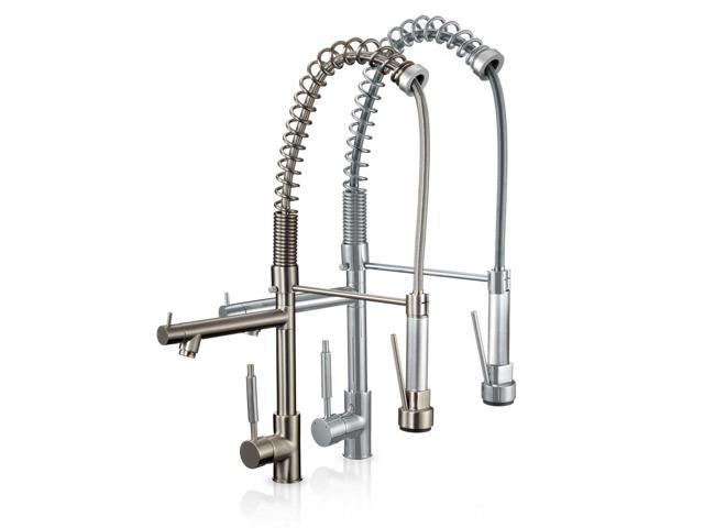 Freuer Professionista Collection Pull Down Spray Kitchen Sink Faucet Brushed Nickel