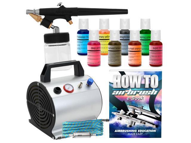 Colours Case /& Cleaning Station Machine Airbrush Cake Decorating Kit  inc