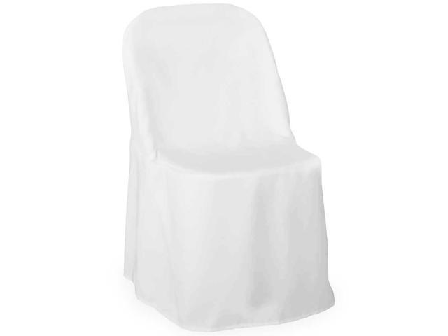 10 pc Black Polyester Folding Chair Covers Wedding Reception ad