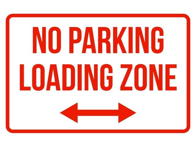 Loading Zone with P No Parking Symbol Sign 12 x 18 Heavy Gauge Aluminum Signs