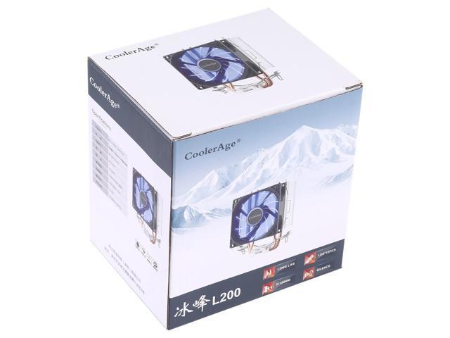 AMD CPU Heatsink Hydraulic Bearing Cooling Fan Double Cooling Fan 3 Pin for Intel LGA775 115X AM2 AM3 AM4 FM1 FM2 1366 Durable