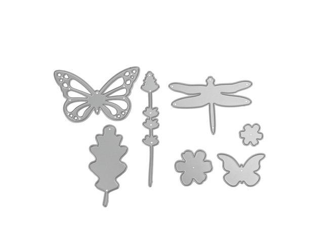 Metal cutting dies 7pcs 3D butterfly flower for Scrapbooking