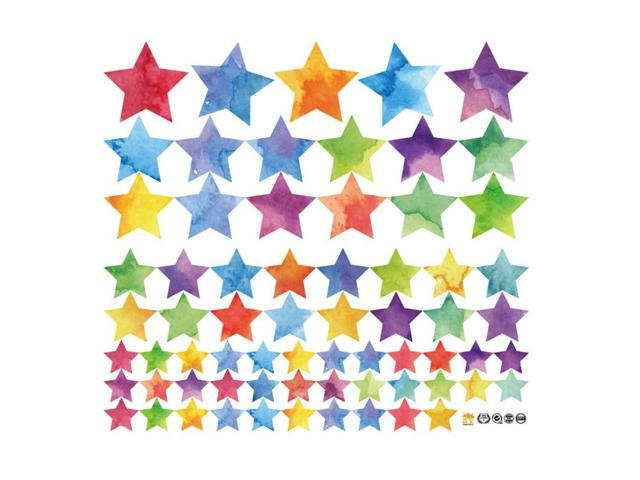 Colorful Stars Pattern Wall Sticker Children Kids Bedroom Cabinets Window  DIY Wall Art Decals Home Decoration