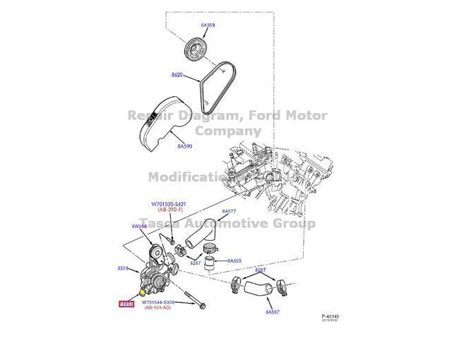 Oem Heater Water Hose Ford Taurus Mercury Sable 3 0 V6 4f1z