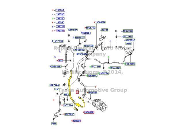 oem ac compressor to condenser tube ford edge lincoln mkx ct4z rh newegg com Used 2007 Lincoln MKX 2014 MKX